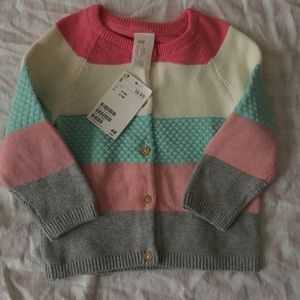 Baby Girl H&M Cardigan Sweater NWT Thick Warm